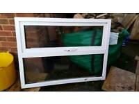 Double glazed window with top opener
