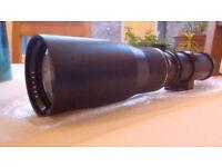 Pentax f6.2 400mm telephoto lens