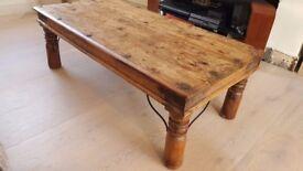 Large Indian Maharani Jali Style Chunky Wood Coffee Table