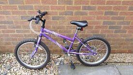 Girls Purple Bicycle age 7 +