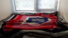 Hand Crochet Vintage Style Bed Rug Small