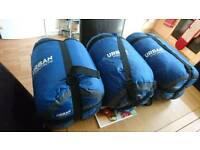 3 unused adult sleeping bags