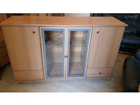 Display Cabinet- Wood/ Glass