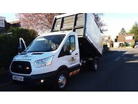FORD TRANSIT TIPPER 350 MWB 2.2TDCI 155PSI 65REG TREE SURGEON ALLOY CHIPPER TOP NO VAT NO VAT