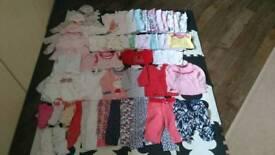 3-6 baby girl bundle 50 items