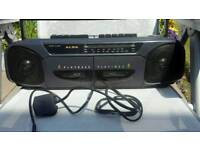 Radio double cassette player nice condition battery and mains