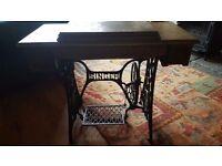 Singer sewing machine table vintage