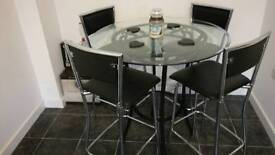 High stool bistro style dining table Barker and Stone house