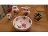 Assorted Portmeirion Items - Pomona, Strawberry Fair, Botanic Garden and Roses