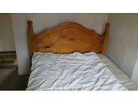 Solid Pine Double Bed in Excellent Condition (no matteress)
