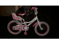 "GIRLS 16"" JASMINE BIKE WITH STABILIZERS , £34.99"