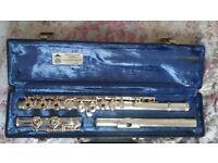 Custom made solid silver Gemeinhardt flute