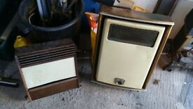 Pair of Old Gas Fireplaces