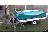 Cabanon 2 berth trailer tent,good condition, easy to tow, superbawning, hook up, bargain.