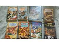 Terry Pratchett books. disc world