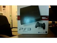 PS3 Slim black 160gb Assasins Creed Bundle