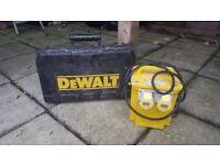 dewalt 110 v and transformer