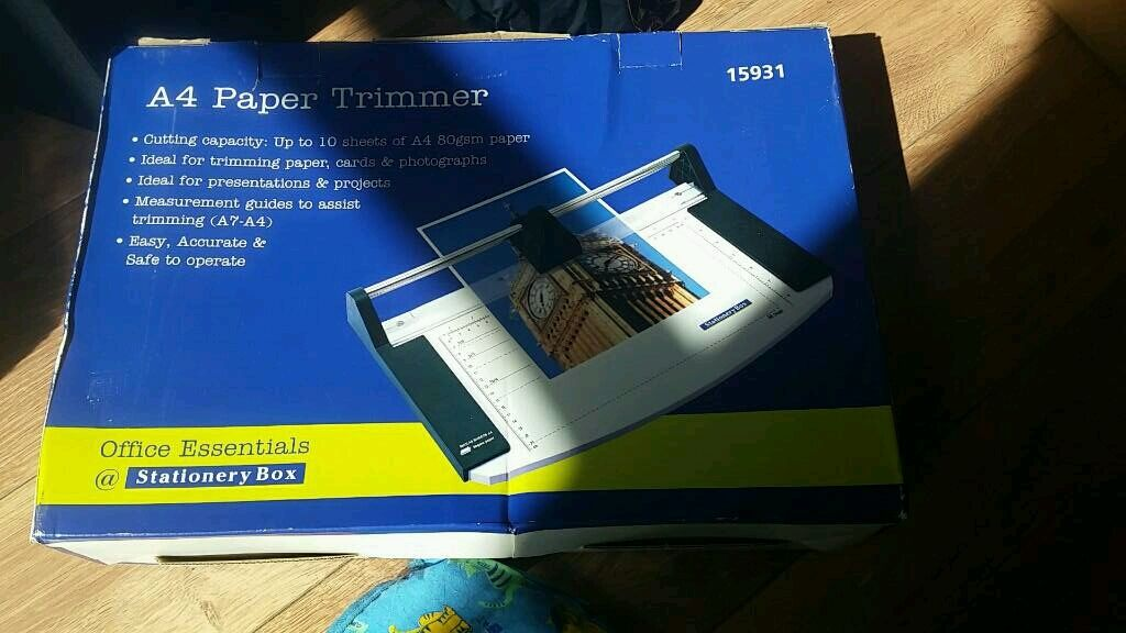 A4 paper trimmerin Sheldon, West MidlandsGumtree - A4 paper trimmer for sale in box. A7 A4 cutting dimensions, cuts upto 10 sheets at a timeCollection from B26