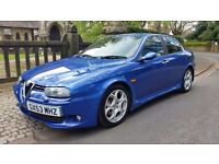 RARE 2003 ALFA ROMEO 156 GTA 3.2 IN BRILLIANT BLUE TOTALLY ORIGINAL 2 KEYS 1 LADY OWNER FROM NEW