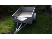 Trailer 4 x 3 really strong galvanised steel and aluminium