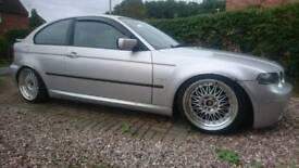 BMW E46 316ti drift car with M54 3.0 litre engine may swap