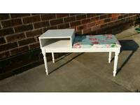 Shabby chic telephone table and seat