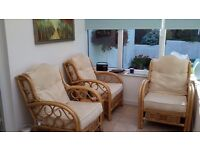 Conservatory furniture, large comfortable armchairs