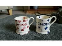 Emma Bridgewater half pint mummy and daddy mugs