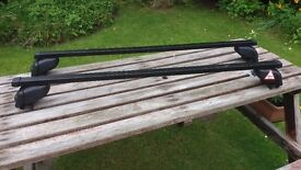 """ATERA"" ROOF BARS, quality German make. Fits cars with INTEGRATED ROOF RAILS."