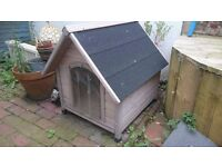 Wooden Dog Kennel With A Frame Roof (Medium Kennel, Grey)