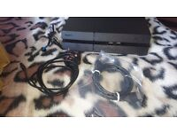 PS4 with 1 controller and 6 games