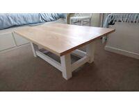 New pale oak scandi style coffee table