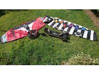 ***REDUCED****Power Kites x 2, 1 x Handlebar, 1 x Harness & Spreader bar, 1 x Mountain board