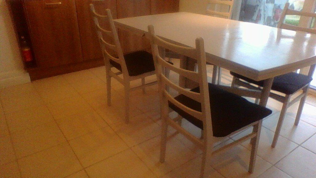 wooden fold down table and chairs in bude cornwall gumtree. Black Bedroom Furniture Sets. Home Design Ideas