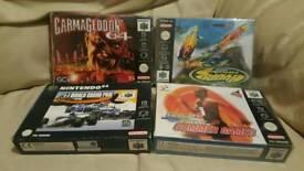 BOXED N64 GAMES