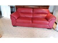Red 3-seat sofa