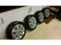 Vauxhall corsa 15 inch alloys and tyres x4