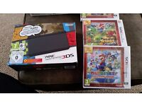 Brand new Nintendo 3DS and 2 games