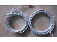 qed qudos bi-wire speaker cable 4.2m x2
