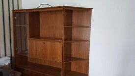 TV/WALL UNIT , WITH GLASS CUPBOARD ,Cupboards and shelves