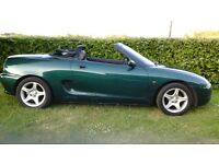 Mg mgf vvc Convertable soft top 1997, recently motd
