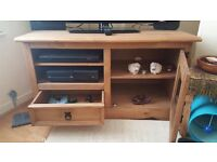 Stunning Mexican Pine TV Cabinet