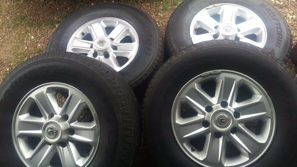 """16""""vauxhall fronera set of 4 wheels & tyers in good condition plenty of tread on all for tyers £80"""