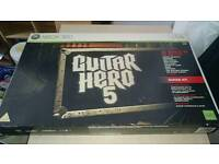 Xbox 360 guitar and two games
