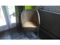 LLOYD LOOM CHAIR WITH ORIGINAL PAINTWORK