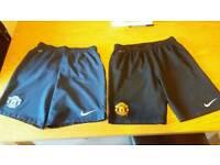 Boys Manu shorts x2 £10