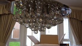Gorgeous semi flush chandelier with crystal balls
