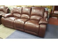 3 seater & 2 seater recliner sofa in Brown - Excellent Condition