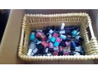 Basket of nail varnish