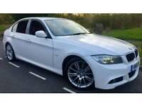 2010 BMW 318D M SPORT BUSINESS EDITION*FSH*RED LEATHER*SAT-NAV*H/SEATS*I-DRIVE*R.TAX-£30*#530D#AUDI